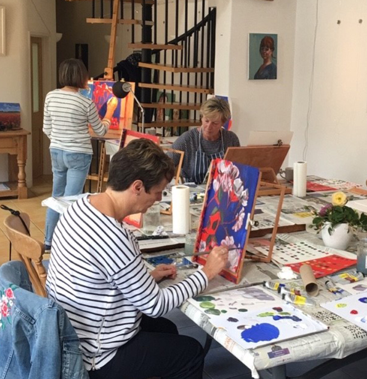 Students at Lisa Timmerman's studio