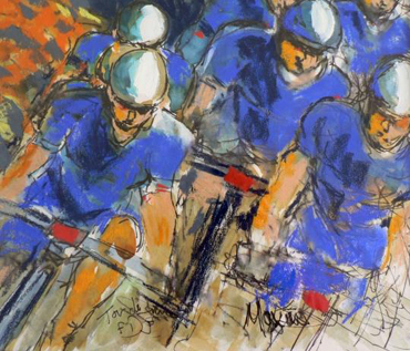 Tour de France painting by Maxine Dodd
