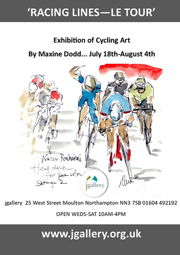 Poster for Maxine Dodd Racing Lines exhibition