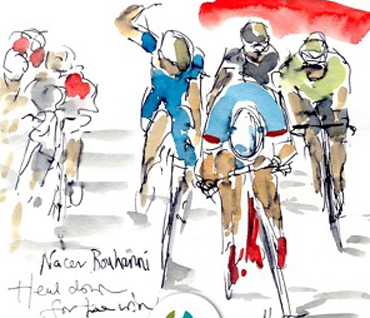 Racing Lines - Le Tour - Maxine Dodd Exhibition