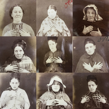Photograps of 19th century female prisoners in Stafford Prison