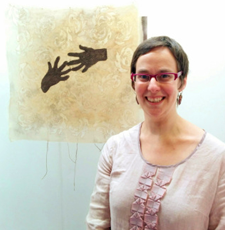 Photograph of textile artist Ruth Singer