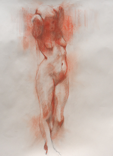Drawing in red chalk by Scott  Bridgwood