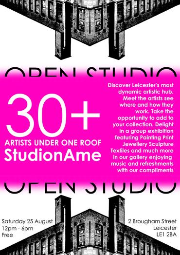 StudionAme open studio poster 2018