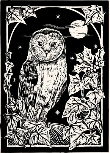 Linocut by Sue Rowland