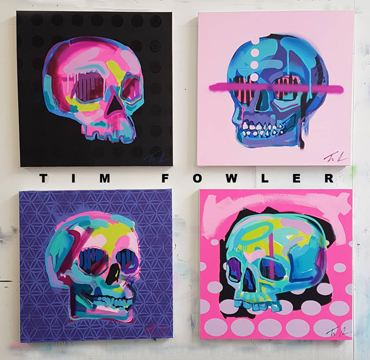 Tim Fowlers - skulls paintings