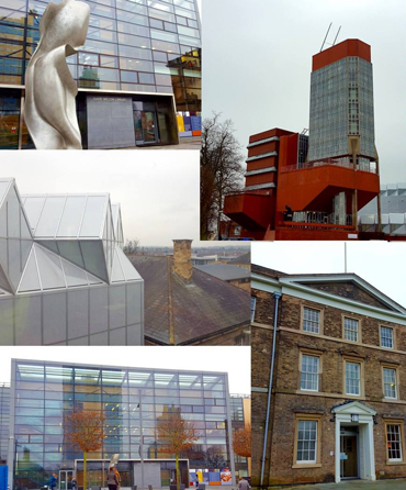 Photographs of Leicester University buildings