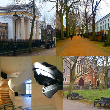 Photographic collage of New Walk Leicester