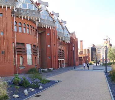 Photograph of De Montfort University buildings