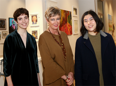 Student winners Alice Miller, Lis Naylor and Da Hyoung Choi