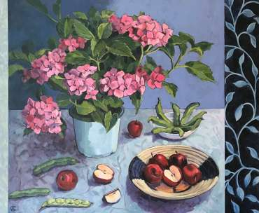 Thumbnail image of Angela Chorley, 'Bush, Beans, Apple' - A sample of artworks in LSA Annual Exhibition 2019