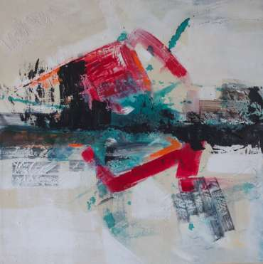 Thumbnail image of Chrissie Everard, 'Evocations of Redundant Boatyards No. 3 - A sample of artworks in LSA Annual Exhibition 2019