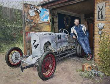 Thumbnail image of Pete Underhill, 'Spider II and Mr Spencer - A sample of artworks in LSA Annual Exhibition 2019