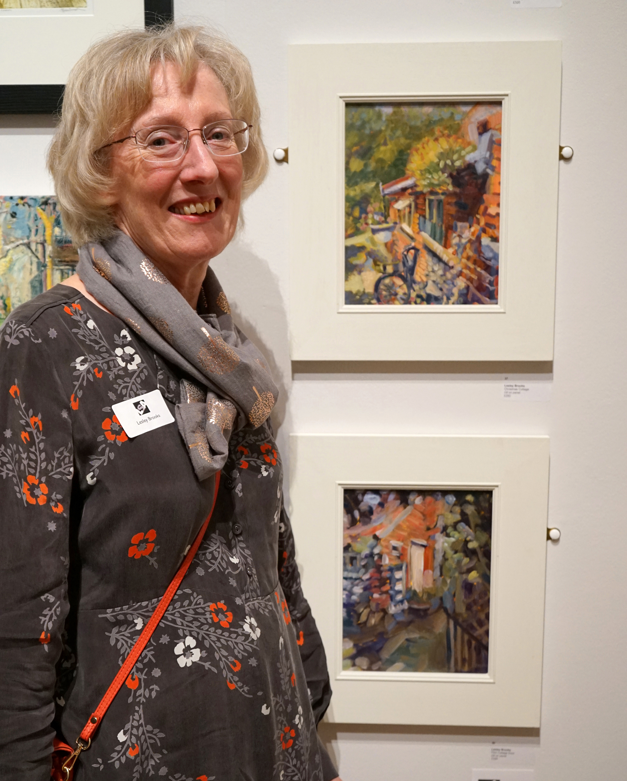 Lesley Brooks with her winning painting