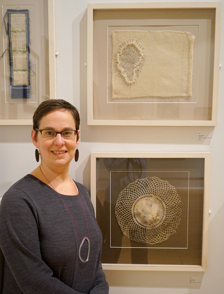 LSA prizewinner Ruth Singer with her winning textile work
