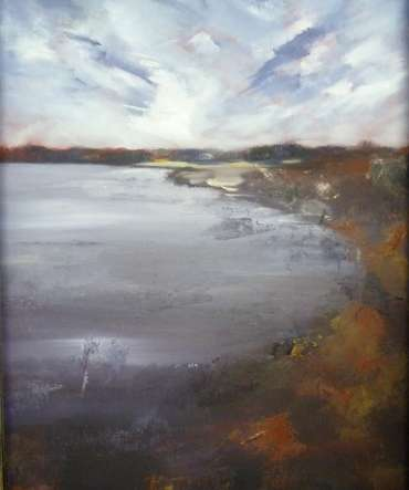 Thumbnail image of Suzanne Harry, 'Rutland Water from Hambleton' - A sample of artworks in LSA Annual Exhibition 2019
