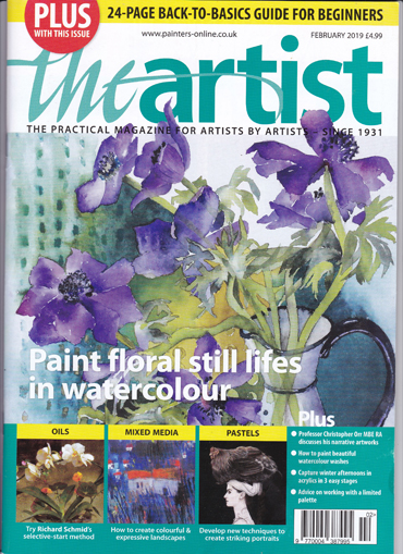 The Artist magazine front cover