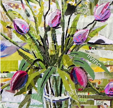 Ripped Paper Collage Workshops - Danielle Vaughan