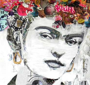 collage portrait by Danielle Vaughan