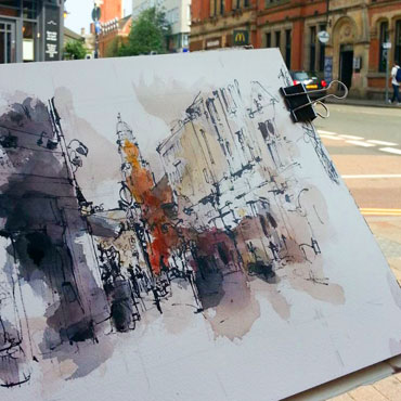 City Sketching: Composition - Emma Fitzpatrick workshop