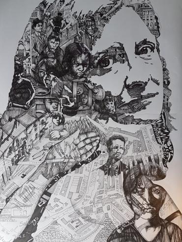 artwork by George Sfougaras