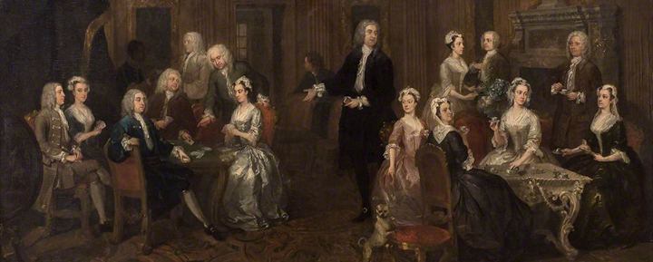 William Hogarth, 'The Wollaston Family' (detail)