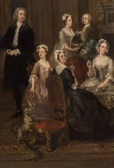 Detail of William Hogath 'The Wollaston Family'