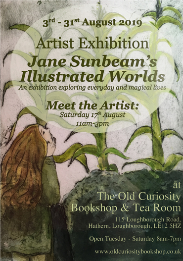 Jane Sunbeam's Illustrated Worlds poster