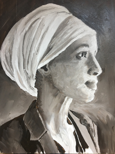 Jo Sheppard image - oil painting by student