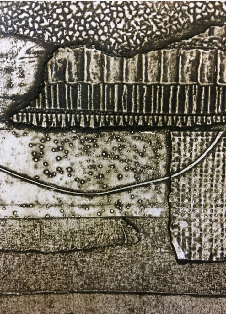 Jo Sheppard - collagraphs by students