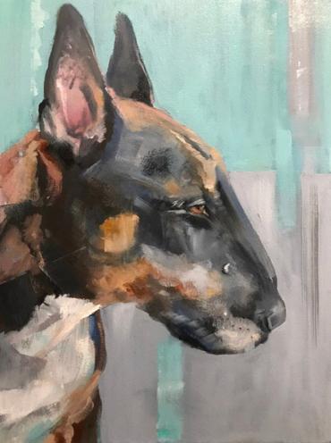 dog portrait byJulie Manson