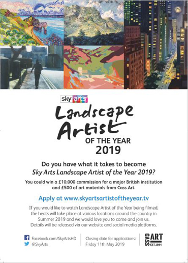 Sky Arts Landscape Artist of the Year flyer