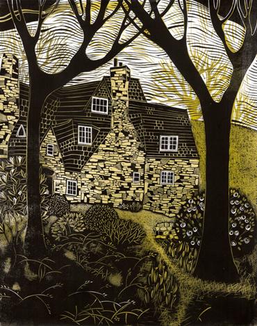 Linocut by Sarah Kirby