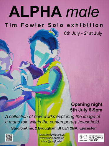 Alpha Males Tim Fowler exhibition poster