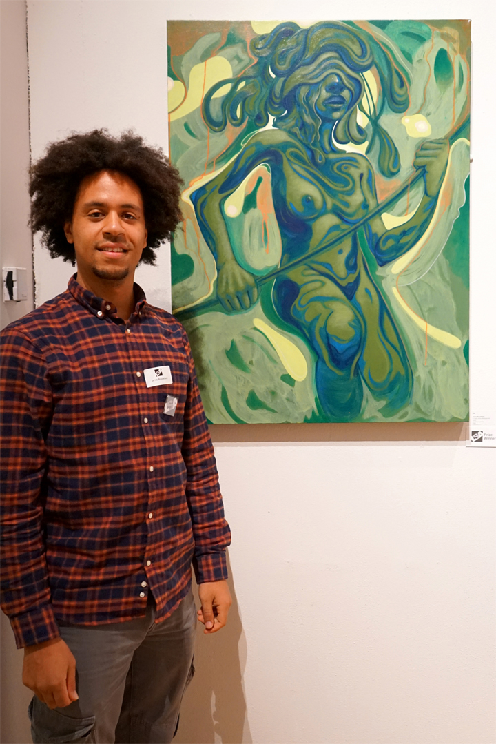Jarvis Brookfield with his award winning painting