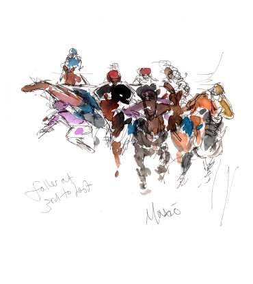 Thumbnail image of 15: Maxine Dodd, 'Faller at Third to Last' - LSA Annual Exhibition 2020   Artwork