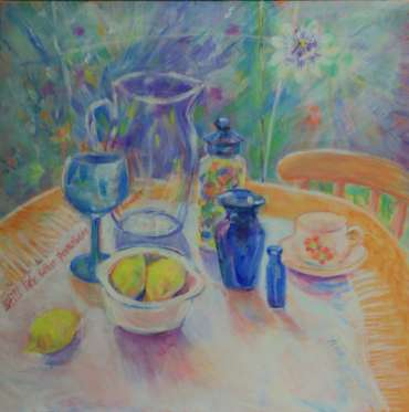 Thumbnail image of 80: Ann Wignall, 'Still Life with Passion Flower' - LSA Annual Exhibition 2020   Artwork