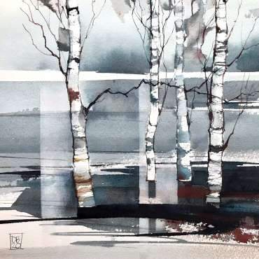 Thumbnail image of 03:  Deborah Bird, 'Winter Birches 2' - LSA Annual Exhibition 2020 | Artwork