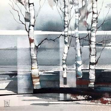 Thumbnail image of 03: Deborah Bird, 'Winter Birches 2' - LSA Annual Exhibition 2020   Artwork