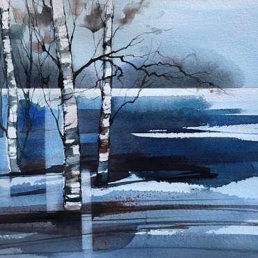Deborah Bird, Winter Birches