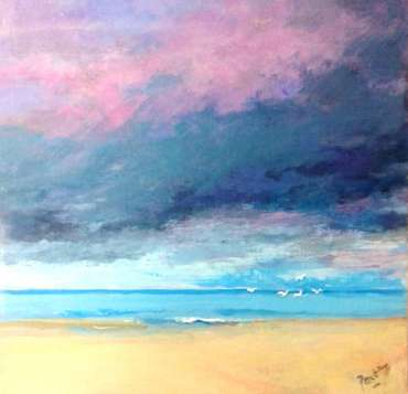 Thumbnail image of 51: Irene Peutrill, 'A Light on the Horizon' - LSA Annual Exhibition 2020   Artwork