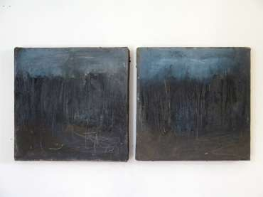 Thumbnail image of 20: Jacqui Gallon, 'Woodland Abstruction' - diptych - LSA Annual Exhibition 2020   Artwork