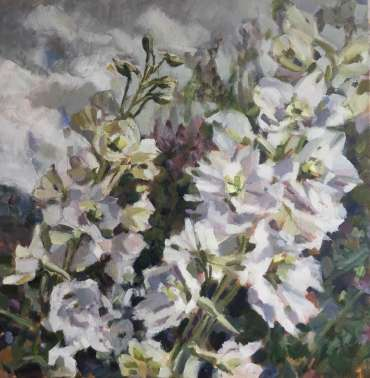 Thumbnail image of 04:  Lesley Brooks, 'Delphiniums' - LSA Annual Exhibition 2020 | Artwork