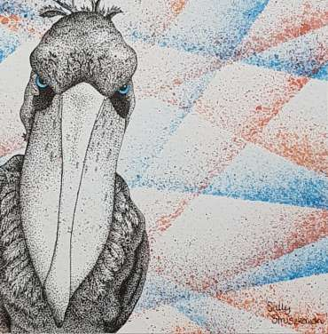 Thumbnail image of 68: Sally Struszkowski, 'Portrait of a Shoebill' - LSA Annual Exhibition 2020   Artwork
