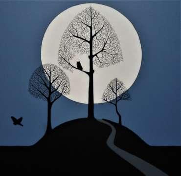 Thumbnail image of 35: Stuart Hill, 'Over Land, Under Moon' - LSA Annual Exhibition 2020   Artwork