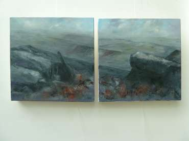 Thumbnail image of 26/27:  Suzanne Harry, 'Towards Carl Walk, Peak District' - Diptygh - LSA Annual Exhibition 2020 | Artwork