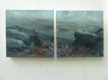 Thumbnail image of 26/27: Suzanne Harry, 'Towards Carl Walk, Peak District' - Diptygh - LSA Annual Exhibition 2020   Artwork