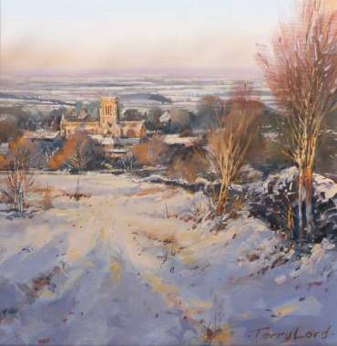 Thumbnail image of 41: Terry Lord, 'St Bernard Abbey from Warren Hills' - LSA Annual Exhibition 2020   Artwork