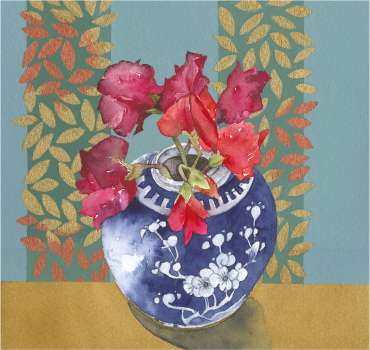 Thumbnail image of 05: Vivienne Cawson, 'Last of the Sweet Peas', - LSA Annual Exhibition 2020   Artwork