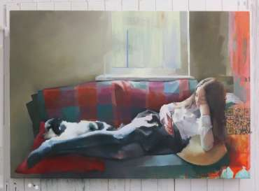 Thumbnail image of Chris Macauley, 'Lily and Percy', - Inspired   April